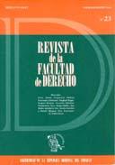 Tapa de la Revista de la Facultad de Derecho n.º 23