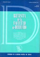 Tapa de la Revista de la Facultad de Derecho n.º 21