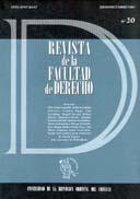 Tapa de la Revista de la Facultad de Derecho n.º 20