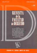 Tapa de la Revista de la Facultad de Derecho n.º 19