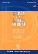 Tapa de la Revista de la Facultad de Derecho n.º 18