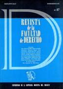 Tapa de la Revista de la Facultad de Derecho n.º 17