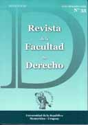 Portada N° 33 Revista de la Facultad de Derecho