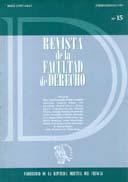 Tapa de la Revista de la Facultad de Derecho n.º 15