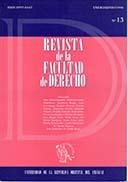 Tapa de la Revista de la Facultad de Derecho n.º 13