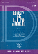 Tapa de la Revista de la Facultad de Derecho n.º 11