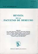 Tapa de la Revista de la Facultad de Derecho n.º 10
