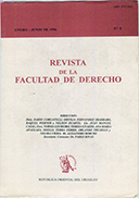 Tapa de la Revista de la Facultad de Derecho n.º 9