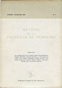 Tapa de la Revista de la Facultad de Derecho n.º 7