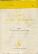 Tapa de la Revista de la Facultad de Derecho n.º 3
