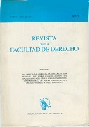 Tapa de la Revista de la Facultad de Derecho n.º 2