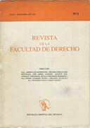Tapa de la Revista de la Facultad de Derecho n.º 1
