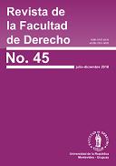Tapa de la Revista de la Facultad de Derecho, número 45